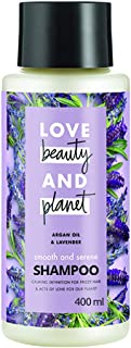 Love Beauty & Planet Argan Oil and Lavender Aroma Smooth and Serene Shampoo, 400 ml