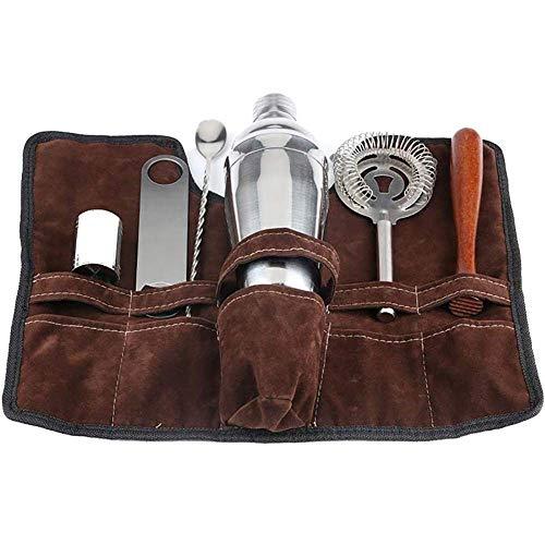 10 Stück Edelstahl Bartender Mixology Kit Weitere professionelle Barware Tools Edelstahl Bar Set mit Eiskübel, 750ml