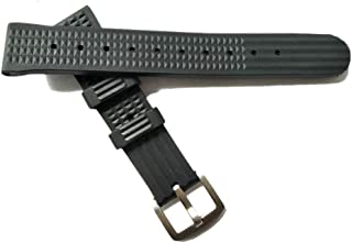 20 mm Watch Strap Silicone Quick Release Soft Rubber Replacement Black Watch Band for Men and Women Rubber Waffle Strap Suitable for Seiko TIMEX MIDO CASIO Citizen Watch