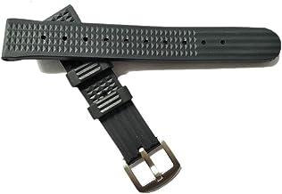 Hima 20 22mm cinturino in silicone con sgancio rapido cinturino in gomma nera di ricambio per uomo e donna Cinturino in go...