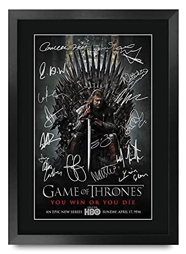 HWC Trading Foto de autógrafo Impreso de Game of Thrones The Cast Gifts para los Fans de la TV...