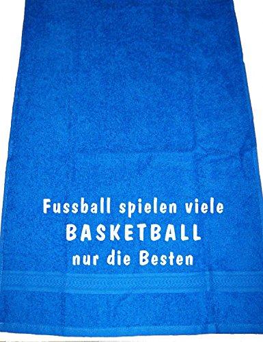 Fußball Spielen viele, Basketball nur die Besten; Handtuch Sport, Royalblau