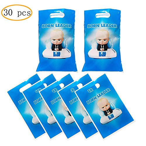 30 Packs Boss Baby Cute Party Gift Bags Boss Baby Gift Bags Party Supplies Birthday Decoration Gift Bags Well for Girls or Boys and Baby Shower