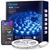 Govee Smart LED Strip Lights, 16.4ft Waterproof LED Lights with App Control, Music Sync WiFi Lights for Room, Party, Eaves, Works with Alexa & Google Assistant via 2.4GWiFi (Adapter Not Waterproof)