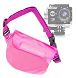 DURAGADGET Pink Durable Water-Resistant Travel Pouch-Style Case - Suitable for The GBB Action Camera Waterproof Sports Camera -