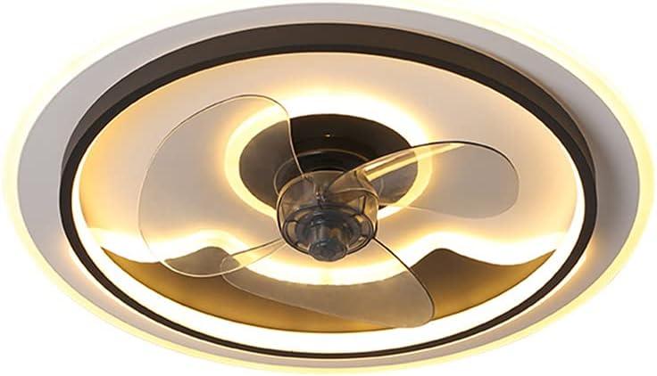 Ventilador de Techo con Luz LED 40W, Creativo Regulable Moderna Con Mando A Distancia, Velocidad Del Viento Ajustable, Ultra Silencioso De La Sala Dormitorio De La Lámpara Del Ventilador 50Cm