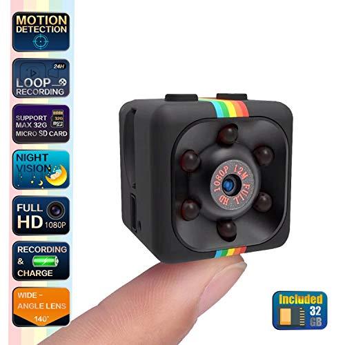 Cop Spy Cam As Seen On TV - Spy Camera with SD Card - SendCord Mini Camera Spy Wireless - Hidden Spy Camera - Nanny Cam Night Vision - Spy Cam Motion Activated - Mini Security Camera Wireless Hidden