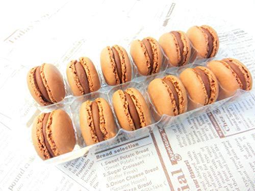 ベルギー産 マカロン 2種 (チョコレート、ピスタチオ) 各12個×2P入りセット 冷凍・マカロン【チョコ+ピスタ】・