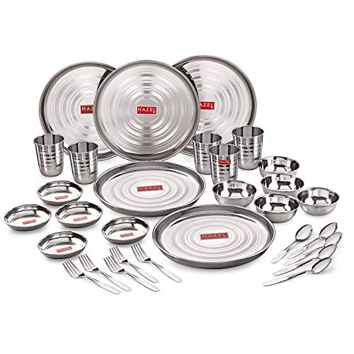 stainless steel dinner set in India