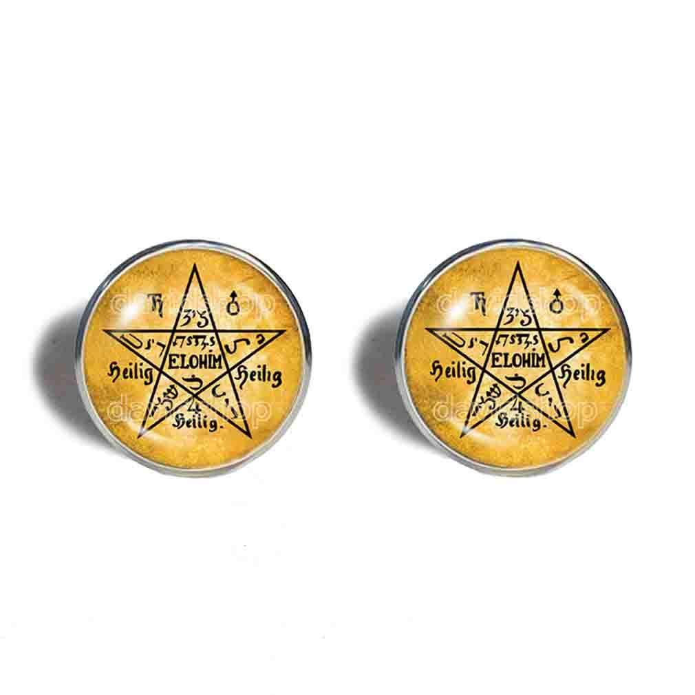 Over item handling Moses Magic Seal Of Great Max 81% OFF Pentagram Earrings Ear Je Cuff Fashion