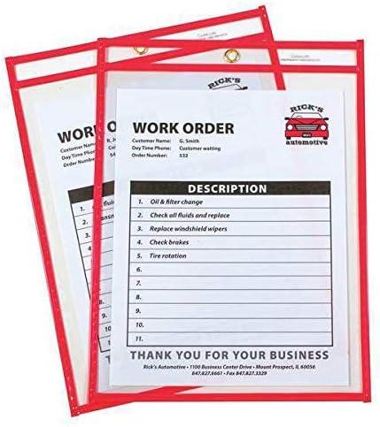 Shop Ticket Holder Red x 9 PK15 12