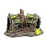 Balacoo - Adornos de acuario creativos de resina para acuario, para decoración de casa de madera muerta