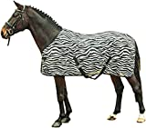 HKM 4668 - Coperta zebrata, con cinghia incrociata, per cavalli