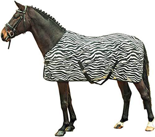 HKM Zebra Blanc de Couverture de Cheval/Noir 105