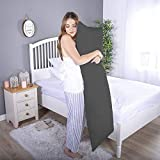 Daddy Cool Ultra Soft Body Support Body Pillow/ Pregnancy Pillow for Pregnant Women/ Maternity Pillow Side Sleeping Pillow 20 x 54 Inch Pack of 1 (Grey )