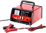 Lescars Kfz Batterie Ladegeräte: Automatisches Profi-Batterieladegerät 12 V / 24 V, max. 15 A (Profi Ladegerät)