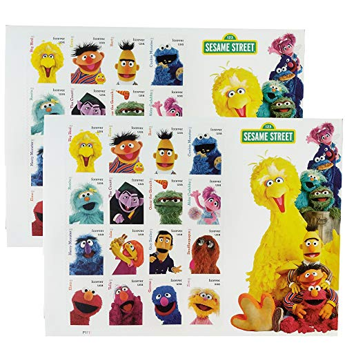 Sesame Street 2 Sheets of 16 USPS Postal First Class US Forever Postage Stamps Wedding Party Celebration (32 Stamps)