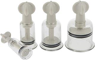 IPOTCH 吸い玉 カッピングセット 4個入り ボディマッサージカップ プラスチック製 使いやすい 健康用品