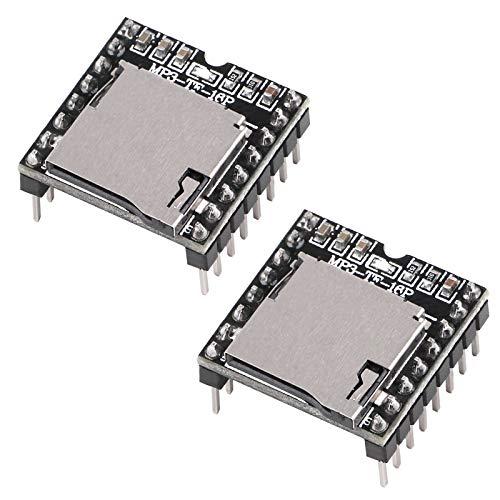 Innovateking-EU 2 UNIDS DFPlayer Mini Módulo Reproductor de MP3 Compatible con UNO R3 para Arduino Audio Tarjeta de Decodificación de Voz Compatible con Tarjeta TF y Unidad Flash USB