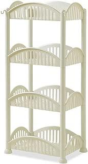 Guoshang Rectangle Storage Shelf Wall-Mounted Self-Adhesive Draining Storage Basket Shower Organizer Rack for Bathroom Kitchen,Green