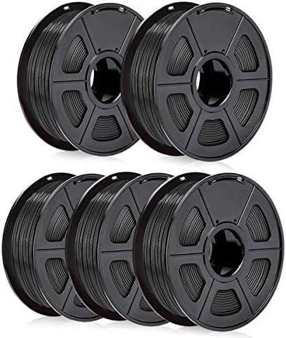 SUNLU ABS Filament 1 75mm Black Bundle of 5kg ABS 3D Printer Filament Dimensional Accuracy 0 product image