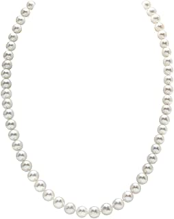 22b4832e164ad1 THE PEARL SOURCE 14K Gold 5.0-5.5mm AAAA Quality White Freshwater Cultured Pearl  Necklace