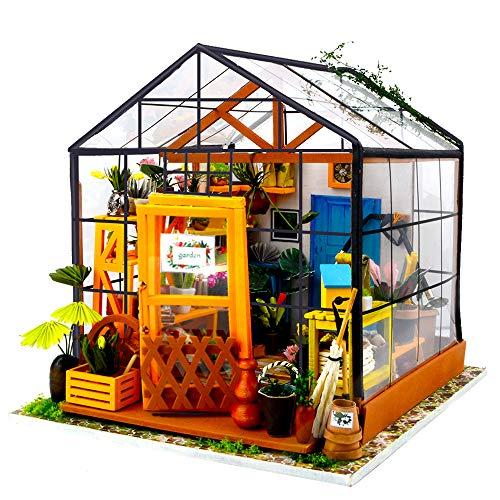 Fsolis Miniatura de la casa de muñecas con Muebles, Equipo de casa de muñecas de Madera 3D, más Resistente al Polvo y el Movimiento de música Regalo Creativo DG104