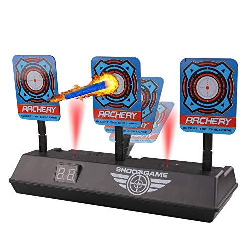 Target Compatible con Nerf, Los niños reinician automáticamente el Juguete Digital con puntaje de Tiro Digital Digital con Pantalla LCD para los Juegos de Tiro de Nerf Blasters