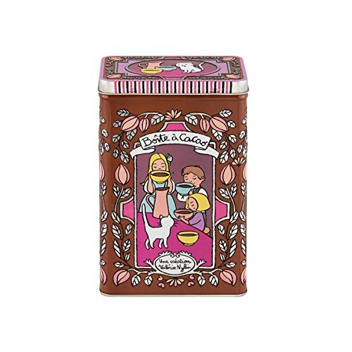 Derriere la porte Scatola Metallo Porta Cacao 19cm Les Embossees