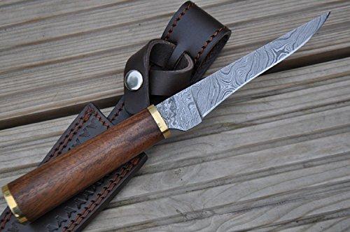 Perkin Jagdmesser mit Scheide Damastmesser Jagdmesser - AR1005