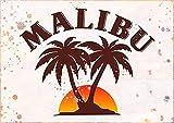 Malibu Rum Vintage Style Colorfast Poster Divertido Arte Decoración Vintage Aluminio Retro Metal Tin Sign Dolor Ting Cartel Decorativo
