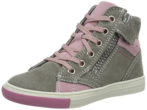 Richter Kinderschuhe Mädchen Fedora High-Top, Grau (Rock/Powder), 32 EU