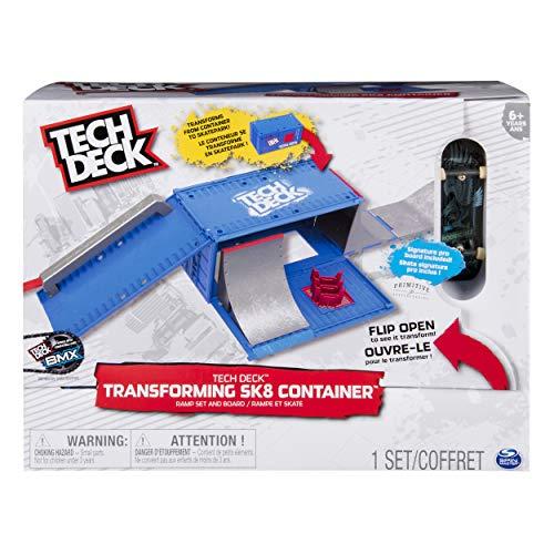 Tech Deck 6035884, for Ages 6 and Up (Edition May Vary) Transforming SK8 Container Pro Modular Skatepark und Board, ab 6 Jahren (Auflage kann variieren), blau/schwarz