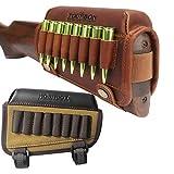 TOURBON Left Handed Buttstock Rifle Cartridge Holder Tactical Cheek Pads