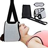 Neck Relief Hammock, Portable Neck Stretcher Cervical Traction Decompression Device for Neck and Back Pain Relief with Eye Mask, FDA Approved