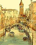 Pintura por números para niños y principiantes kit de pintura pintura acrílica de alta calidad pintura al óleo (sin marco) - ciudad