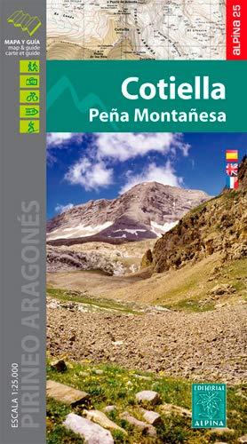Cotiella, Peña Montañesa (Pirineo Aragonés), mapa excursionista. Escala 1:25.000. Alpina Editorial. (Mapa Y Guia Excursionista)