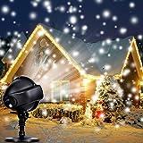 Projecteur LED Neige Extérieur Intérieur, Lampe de Décoration de Noël...