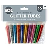 10 x Glitter Tubes in Assorted Vibrant Colours | Glitter Shakers for Children Arts and Crafts | Glitter for Slime, Craft and Art | Free EBOOK with Over 100 Ideas