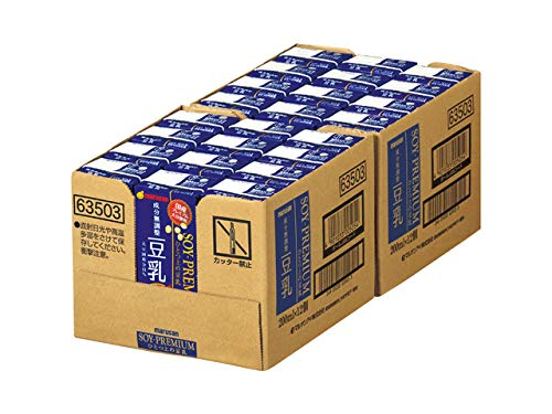 マルサンソイプレミアムひとつ上の豆乳成分無調整200ml×24本