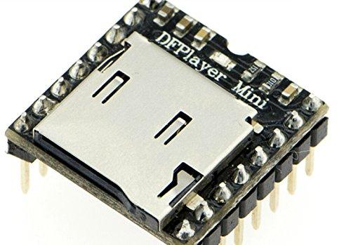 dfplayer–Un Mini MP3Player/la dfplayer perfectamente Integra módulo de decodificación duro, que admite Común formatos de audio como, WAV MP3y WMA