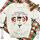 It's Christmas Jo-NAS Brothers Signatures Christmas Shirt Graphic Funny Novelty T Shirt, Hoodie, Sweater