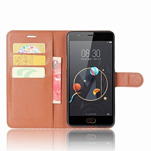 NEKOYA ZTE Nubia N2 Hülle,ZTE Nubia N2 Lederhülle, Handyhülle im Brieftasche-Stil für ZTE Nubia N2 .Schutzhülle mit [TPU Innenschale] [Standfunktion] [Kartenfach] [Magnetverschluss]