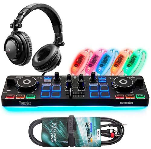 Hercules DJ-Party Set - DJControl Starlight Controller met hoofdtelefoon + keepdrum audiokabel