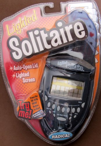 Radica HANDHELD LIGHTED SOLITAIRE GAME w AUTO OPEN LID