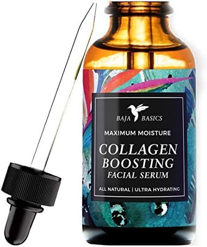 Collagen Boosting Facial Serum by Baja Basics 100 Natural Skin Brightening Anti Aging Vitamin product image