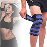 2 Pcs Sports Knee Wraps Knee Brace for Working Out, Extra Long Elastic Knee Wraps for Weightlifting, Knee Brace for Knee Pain Plus Size, Knee Brace for Elbow Sleeves Weight Lifting, Legs Women Fitness