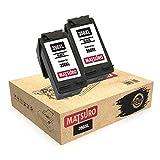 Matsuro Originale | Compatible Remanufactured Cartouches d'encre Remplacement pour HP 350XL 350 (2 Noir)