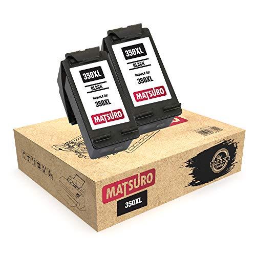 Matsuro Original | Compatible Remanufactured Cartuchos de Tinta Reemplazo para HP 350XL 350 (2 Negro)