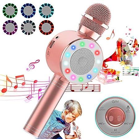 【7/26まで】崎月 Bluetoothカラオケマイク 録音可能 1,449円送料無料!